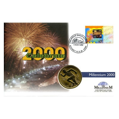 2000 Bronze $5 - Celebration of the New Millennium Coin